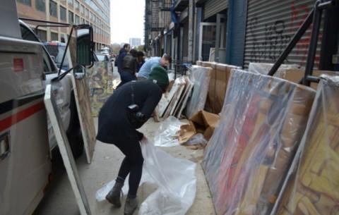 Arte colpita dall'uragano Sandy