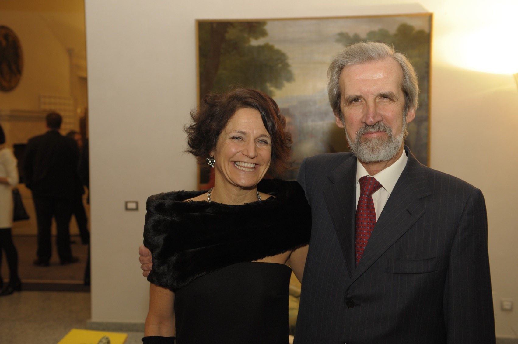 Letizia Ragaglia e l'ambasciatore Elio Menzione (foto Jan-Peter Nüsken)