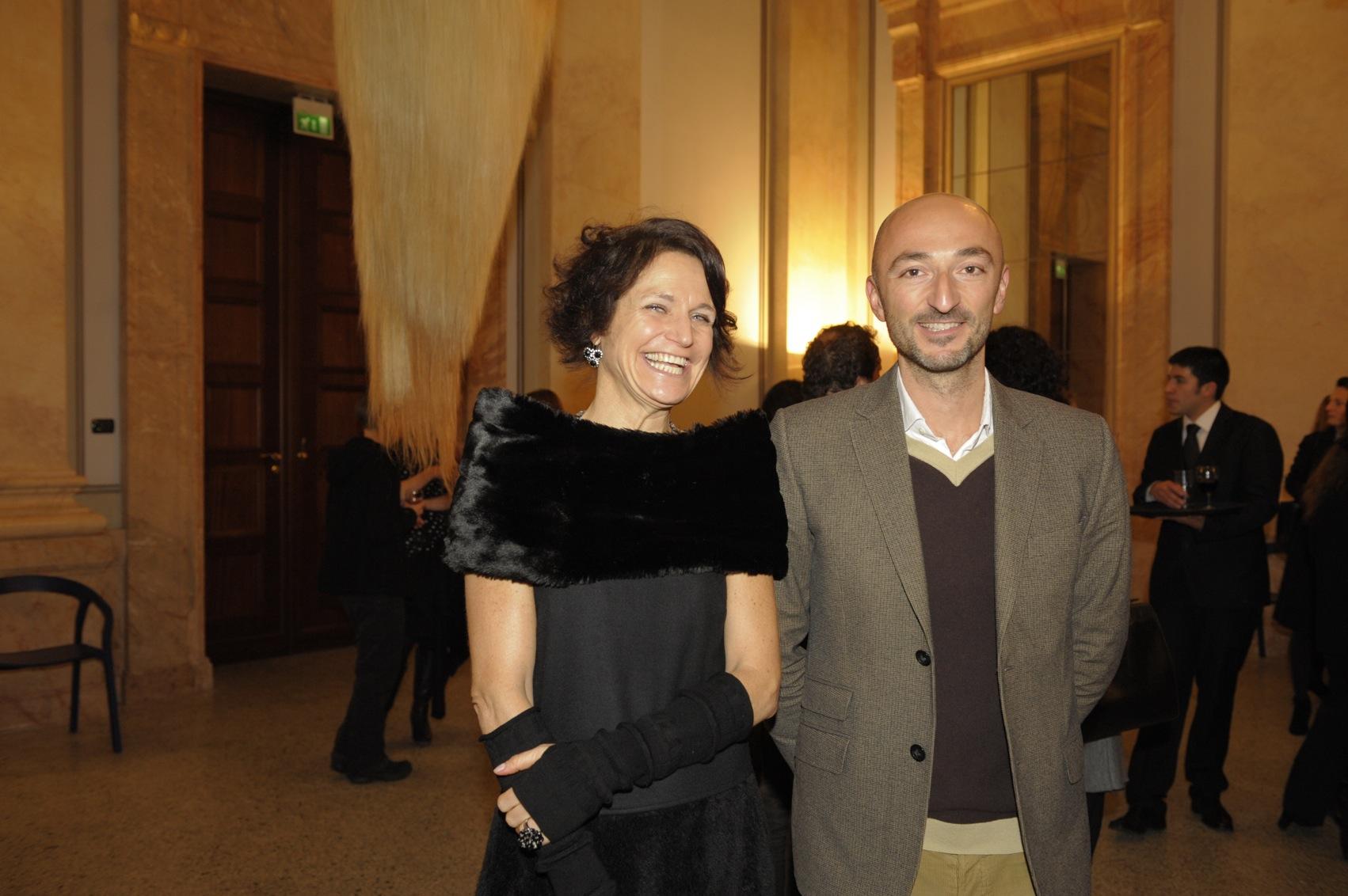 Letizia Ragaglia e Cédric Aurelle, direttore Gallery Weekend Berlin e Kunstmesse abc (foto Jan-Peter Nüsken)