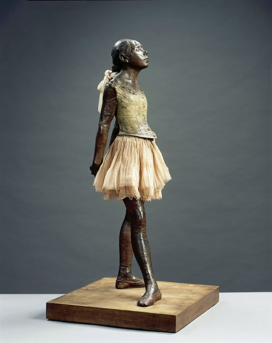 Edgar Dègas, Piccola danzatrice di 14 anni, 1880-81, bronzo e tessuto