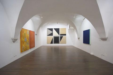 La pittura: esercizio o libertà? - veduta della mostra presso la Galleria Giacomo Guidi, Roma 2012