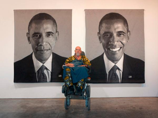 Chuck Close e il suo ritratto di Obama - photo Phaidon