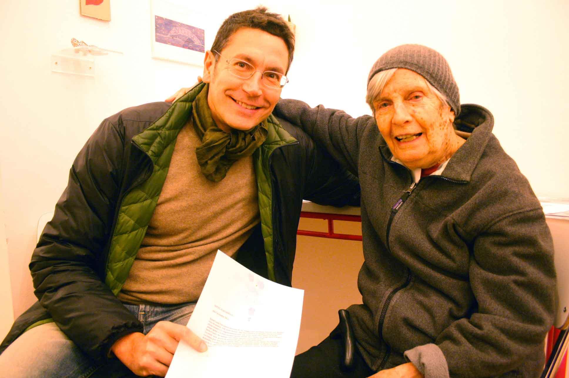 Giovanni Policastro e Lisa Ponti alla Galleria Toselli per la collettiva Hotel Acquarello. Photo Lucia Grassiccia