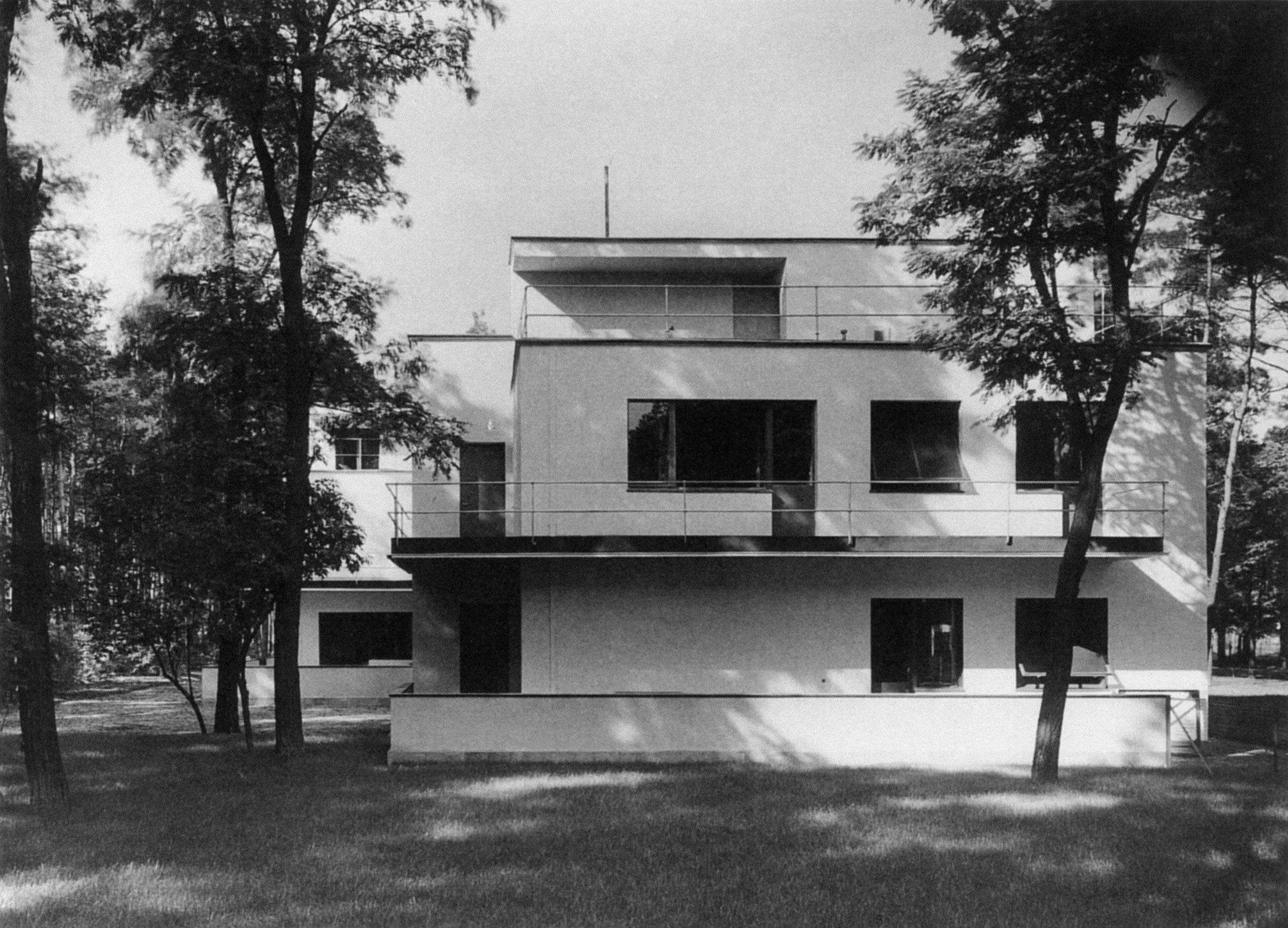 Lucia Moholy - Casa dei maestri del Bauhaus - Dessau, 1926 - Max museo, Chiasso