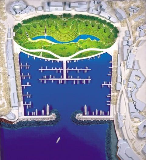 Emilio Ambasz, Architect Monte-Carlo Public Park and Residencies, 1998 - © Emilio Ambasz & Associates, Inc.