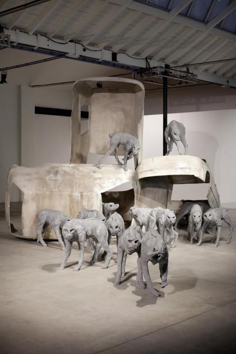 Paolo Grassino - Percorso in tre atti - veduta della mostra presso il Museo Pecci, Milano 2013 - photo Zepstudio