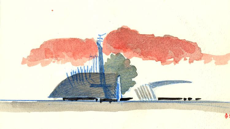 Alessandro Anselmi, Ristrutturazione della piazza del mercato e del nuovo terminal della metropolitana con annesso il centro commerciale, Sotteville-les-Rouen (Francia), 1993 - 1995