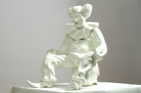 Vincenzo Rusciano, White Clown, 2008, courtesy Galleria Annarumma, Napoli.