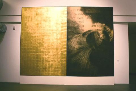 Omar Galliani / Alessandro Busci – Un passaggio di generazione (centro di gravità permanente) - veduta della mostra presso il MAGA, Gallarate 2013