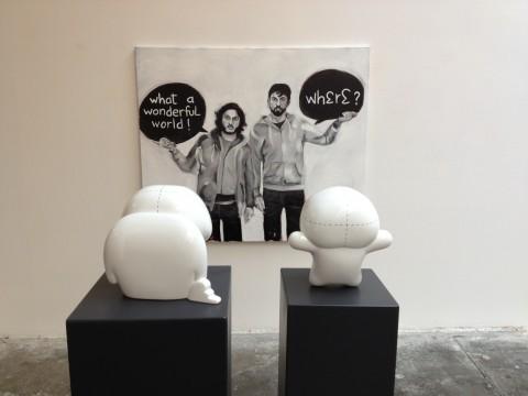 Blue and Joy - The Superficial Essence of a Deep Appearance - veduta della mostra presso la Galleria Artra, Milano 2013