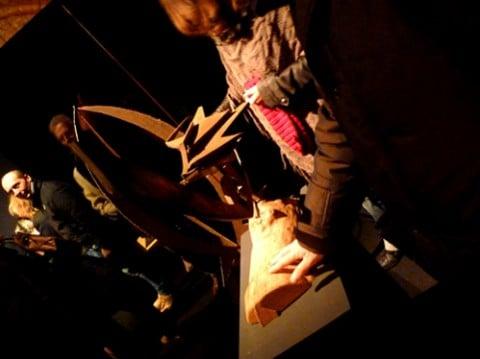 Guardare con tatto - veduta della mostra presso la Mole Vanvitelliana, Ancora 2013