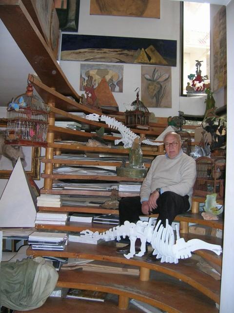 Ezio Gribaudo in studio