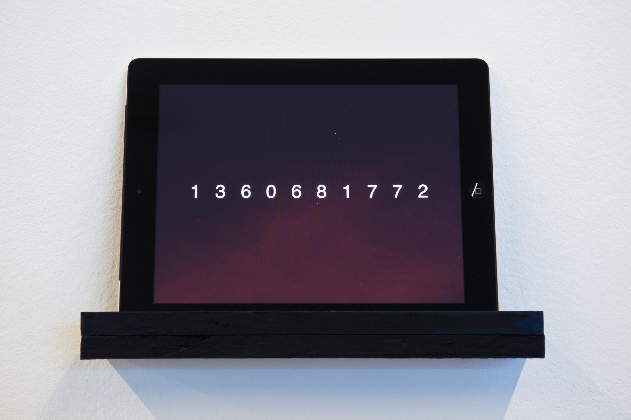 Alistair McClymont – Unix Time (2012) – photo Luigi Acerra