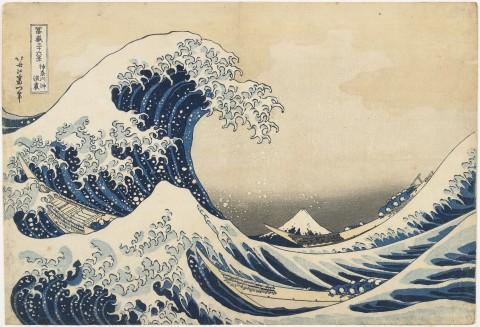 Katsushika Hokusai, La grande onda di Kanagawa (Kanagawa oki nami ura), dalla serie Trentasei vedute del Monte Fuji, 1831-34 - Courtesy Minneapolis Institute of Arts