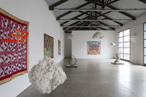 Sanford Biggers - Sugar, Pork, Bourbon - veduta della mostra presso Massimo De Carlo, Milano/Londra 2013 - photo Roberto Marossi