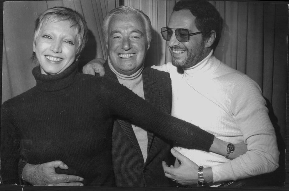 Vittorio De Sica con Mariangela Melato e Nino Manfredi