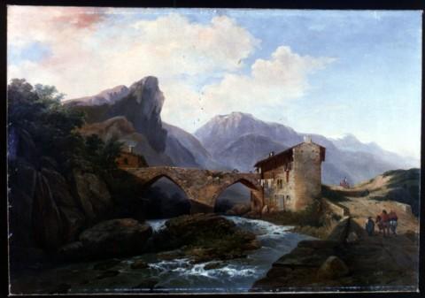 Ercole Calvi, Veduta della Brianza, 1860-65 - Artgate, Fondazione Cariplo