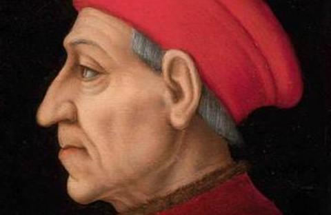 Un particolare del ritratto di Cosimo de' Medici eseguito dal Pontormo
