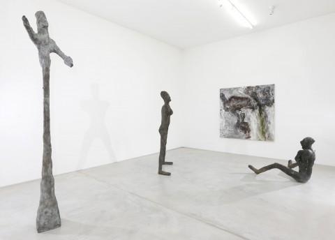 Martin Disler - Häutung und Tanz 1990-91 - veduta della mostra presso la Buchmann Galerie, Agra 2013