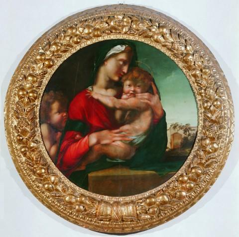 Alonso Berruguete, Madonna col Bambino e san Giovannino (detta Tondo Loeser), 1513-1514 circa, Firenze, Palazzo Vecchio, Collezione Loeser