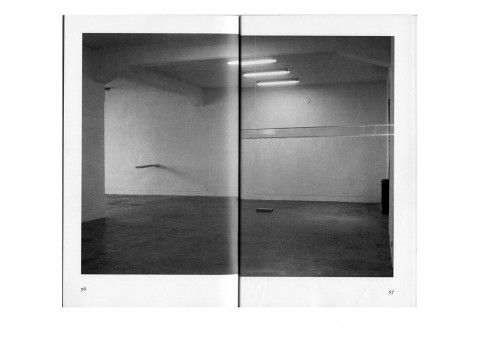 Giovanni Oberti, Senza titolo (Indicazioni per uno spazio), 2008, scansione delle pagine di un libro stampata su carta fotografica lucida, courtesy the artist and CO2