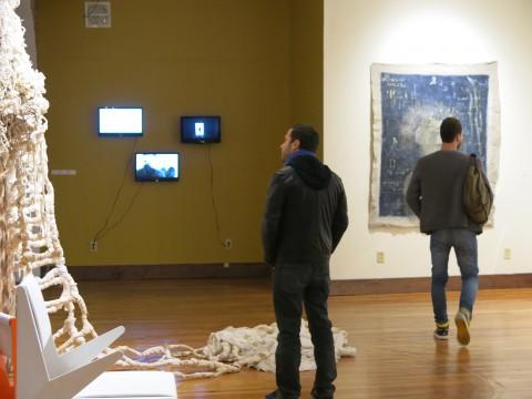 Italian Vibrations - veduta della mostra presso il Provenance Center, New London 2013