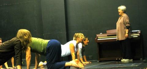 Kristin Linklater con i suoi studenti