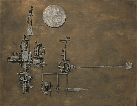 Arnaldo Pomodoro, La luna il sole la torre, 1955 - photo Studio Boschetti