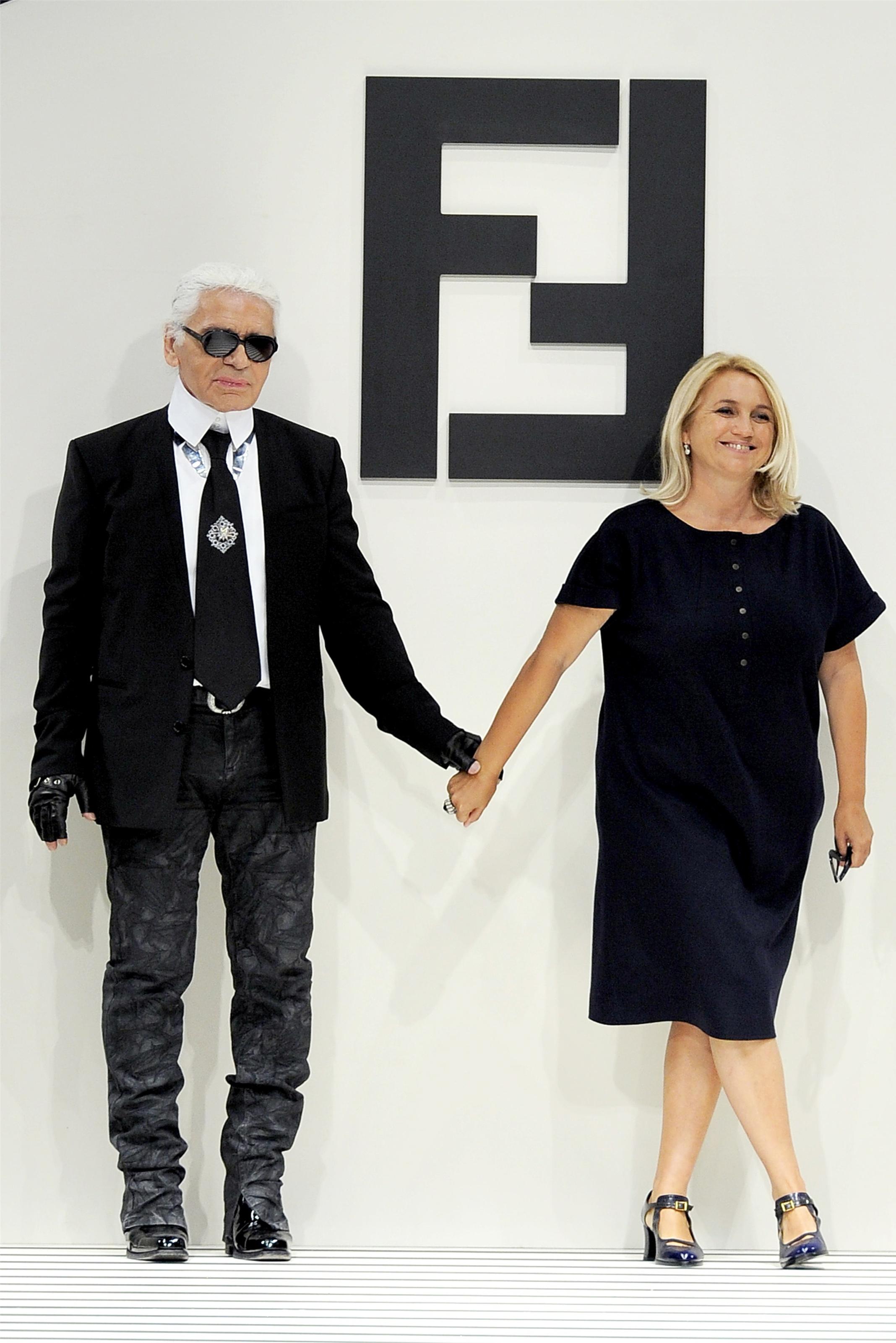 Silvia Venturini Fendi e Karl Lagerfeld