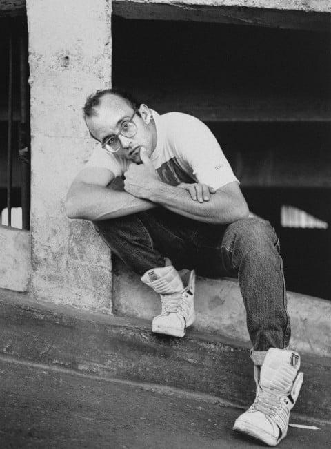 Ritratto di Keith Haring - photo Philippe Bonan - giugno 1989 - © Philippe Bonan