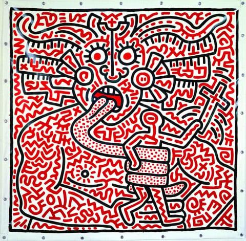 Keith Haring, Untitled, 25 agosto 1983 - coll. privata - courtesy Enrico Navarra, New York - © Keith Haring Foundation