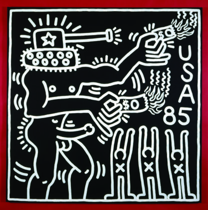 Keith Haring, Untitled, 1985 - coll. Keith Haring Foundation - © Keith Haring Foundation