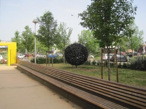 Luca Matti, Nidomondo, 2013 - installazione permanente nei Giardini di via Val di Marina, Firenze