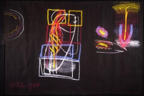 Rudolf Steiner, Disegni alla lavagna, 1923 - Courtesy Rudolf Steiner Archive, Dornach