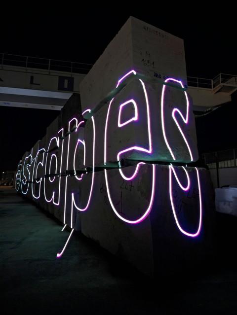 Arthur Duff, Stonewall Whitewash, 2010 - collateral event Sculpture Biennial Carrara, Marina di Massa