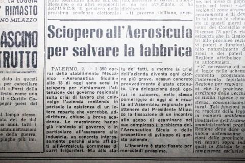 Cronache dell'epoca - sciopero all'Aerosicula