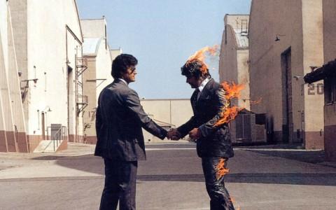 Pink Floyd, Wish You Were Here (1975) - copertina del disco, dettaglio