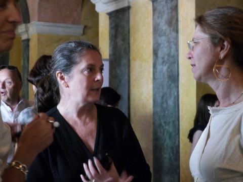 Grazia Toderi con Paola Tognon a Bergamo, in occasione di Art Date 2013