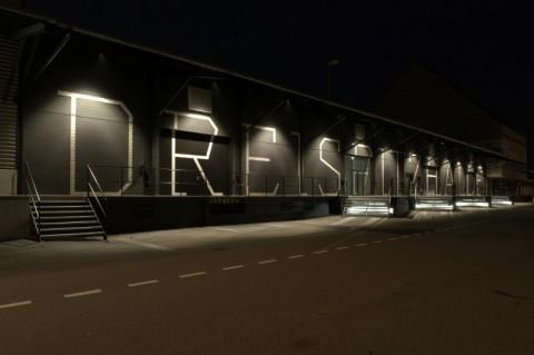 La sede di Volta - Dreispitzhalle, Foto Simon Hauser e David Schwarz, Courtesy of Dreispitzhalle, Christoph Merian Stiftung Basel