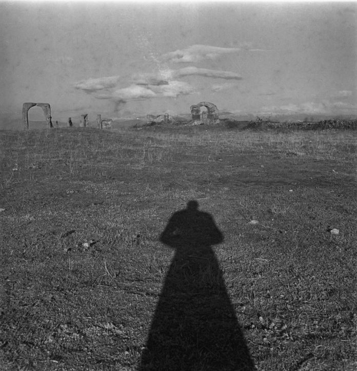 Milton Gendel, Self-Portrait, Via Appia, Rome, 1950