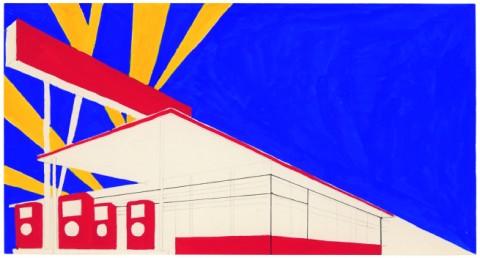 Ed Ruscha, Standard Study # 2, 1962 - Whitney Museum of American Art, New York © Ed Ruscha
