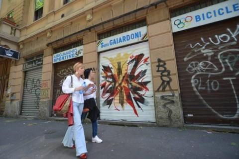 Le saracinesche dipinte a Milano