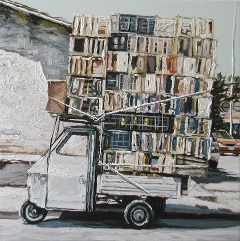 Andrea Di Marco, Apeinbilico, 2006, cm 55 x 55