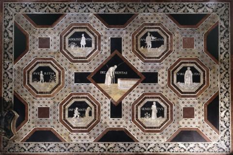 Pavimento del Duomo di Siena