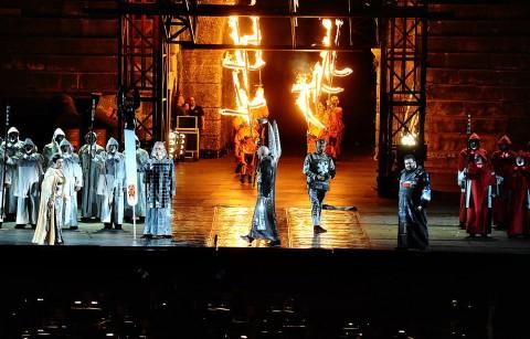 L'Aida della Fura dels Baus all'Arena di Verona - photo di Antonella Anti