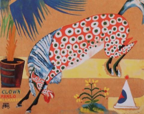 Amadeo de Souza-Cardoso - Senza Titolo (Clown, Cavallo, Salamandra), 1911-1912 circa