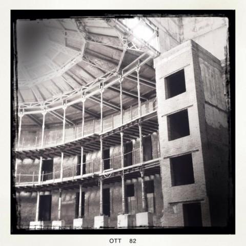 Ferrara, Teatro Verdi - palchi e sistemi verticali di risalita