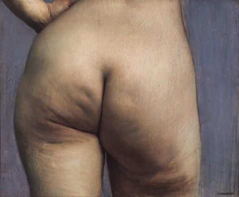 Vallotton, Gesässstudie, um 1884, Öl auf Leinwand, 38 x 46 cm, Privatbesitz, Courtesy Fondation Pierre Gianadda, Martigny