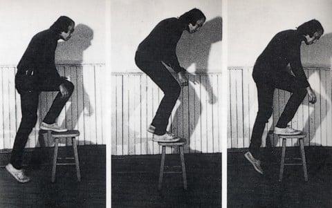 Vito Acconci, Step Piece, 1970