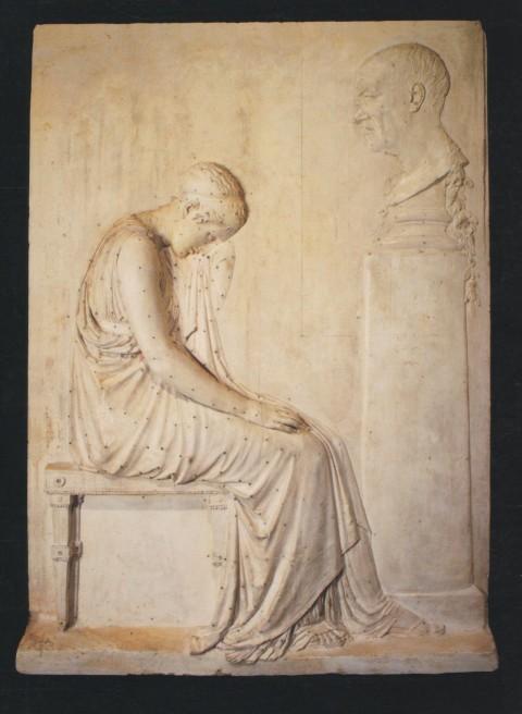 Antonio Canova, Stele funeraria di Giovanni Volpato, circa 1806, definitivo modello in gesso